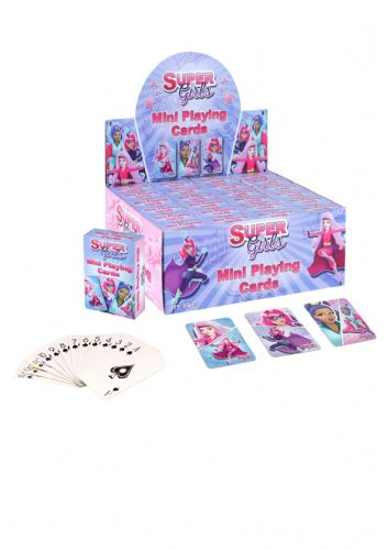 15 x Mini Super Girl Playing Cards (6x4cm) 3 Assorted Designs